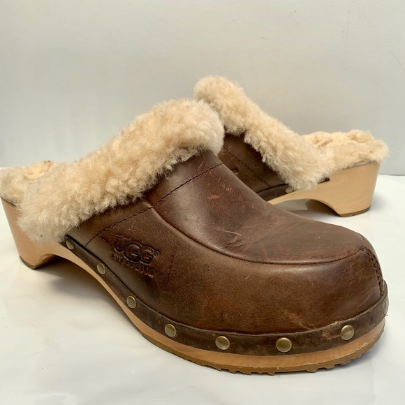 87f5c22b863 Ugg Australia Kalie Leather/ Shearling Clog